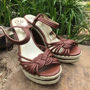 Seychelles leather wedges size 7